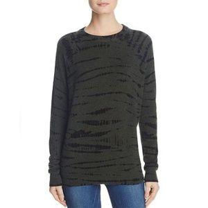 AQUA Cashmere | Tie-Dye Crewneck Sweater Sz. L